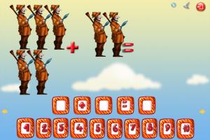 скрин 2 -Математика Красная шапочка - детское обучающее приложение