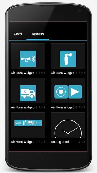 Air-Horn-Widget