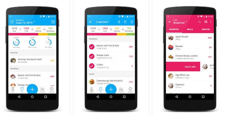 Хорошие приложения для андроид подсчет калорий